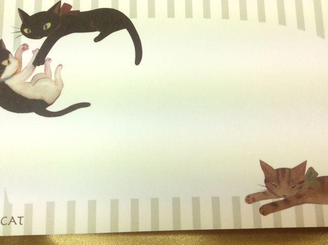 リボンキャット一筆箋の中紙の画像