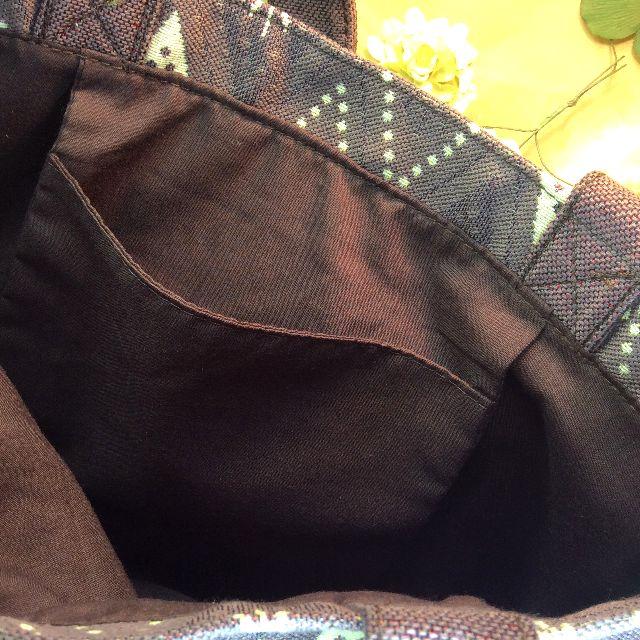 池田あきこ先生のわちふぃーるどダヤンのトートバッグ石の回廊の内側ポケット部分アップ写真