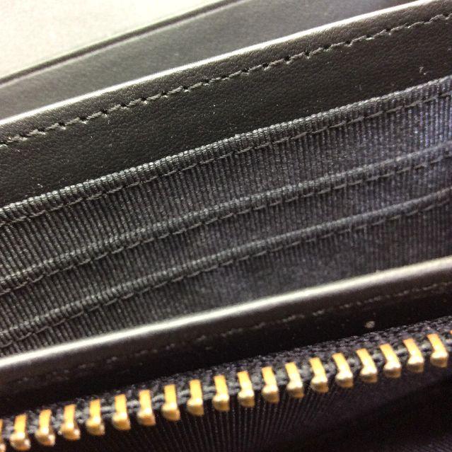 池田あきこ先生のわちふぃーるどダヤンのアート二つ折り財布天球のチャック部分アップ画像