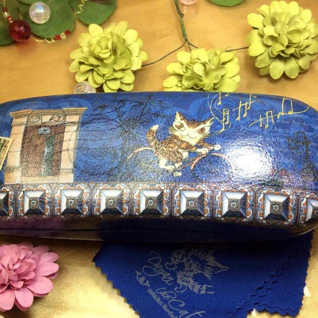 池田あきこ先生のわちふぃーるど社ダヤンのメガネ拭き付きメガネケースアンダルシアの裏側全体写真
