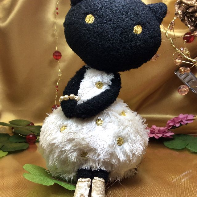 マタノアツコ先生の黒猫のマシュマロヌイグルミの全体の写真